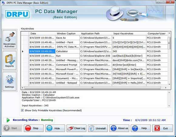 PC Keylogger screenshot