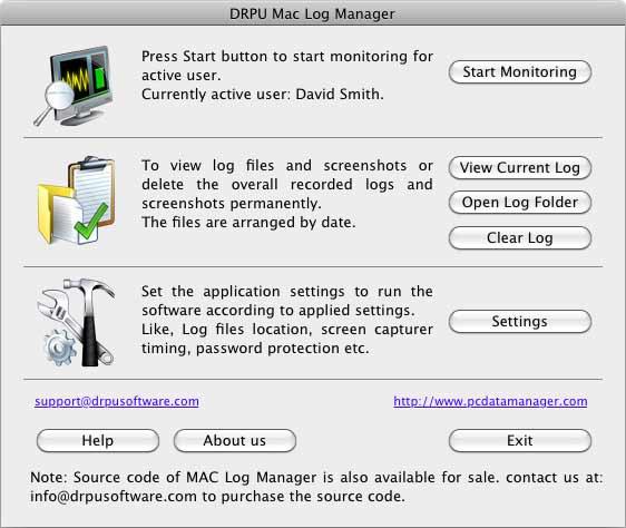 OSX Keylogger screenshot