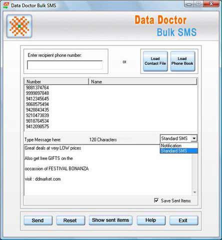 Pocket PC Bulk SMS Program