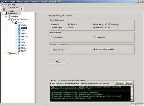 Windows Network USB Drive Blocker
