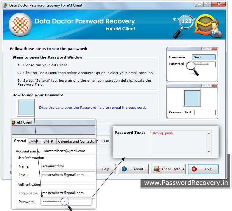 eM Client Password Recovery