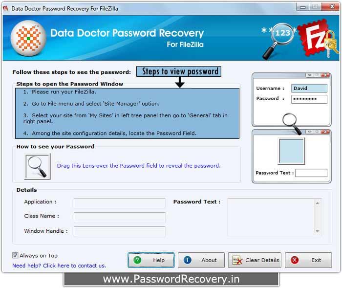 FileZilla Password Recovery